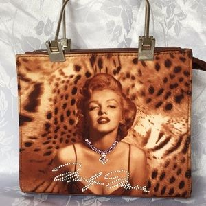 Marilyn Monroe Leopard Print Purse Vintage